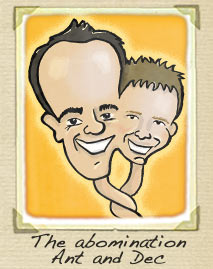 Ant and Dec cartoon
