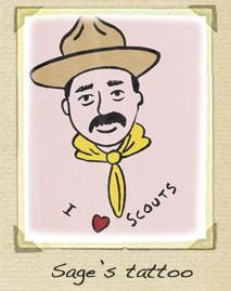 Baden Powell tattoo