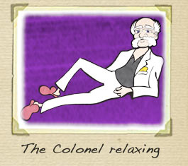 The Colonel relaxing