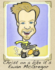 Ewan McGregor cartoon - caricature