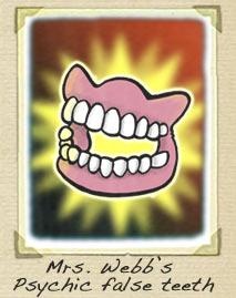 Psychic false teeth