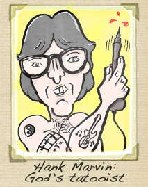 hank marvin cartoon