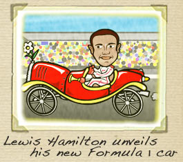 Lewis Hamilton Cartoon