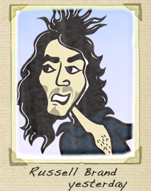 Russell Brand yesterday