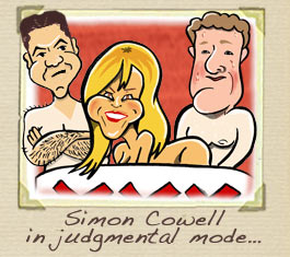 Amanda Holden, Piers Morgan and Simon Cowell