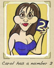 Carol Vorderman cartoon