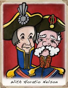 Horatio Nelson with the Colonel Bonaparte