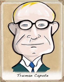 Truman Capote cartoon