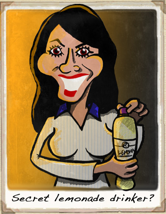 Christine Bleakley cartoon