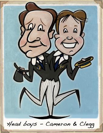 David Cameron, Nick Clegg cartoon