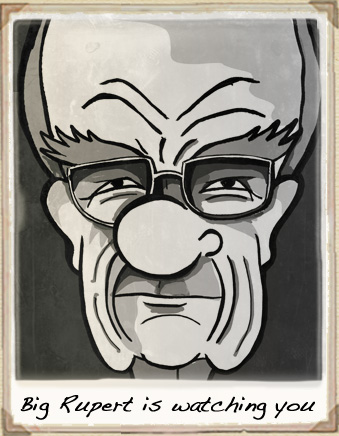 Rupert Murdoch cartoon