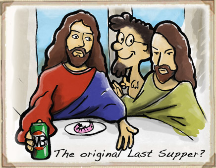 last supper cartoon