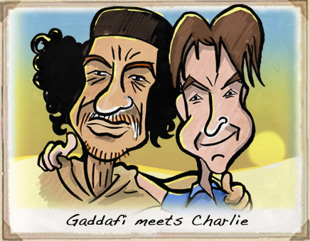 Colonel Gaddafi Cartoon