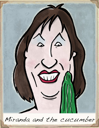 Miranda Hart cartoon