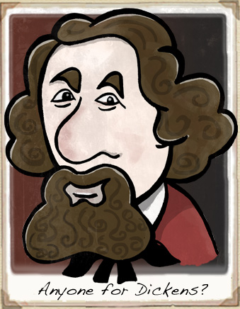 charles dickens cartoon