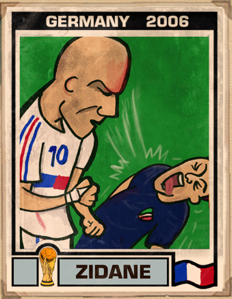 zidane headbutt cartoon